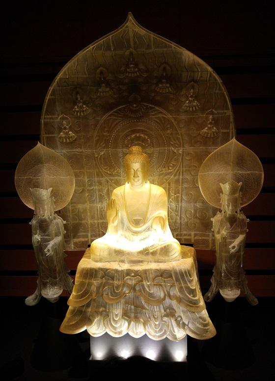 法隆寺 再現 釈迦三尊像